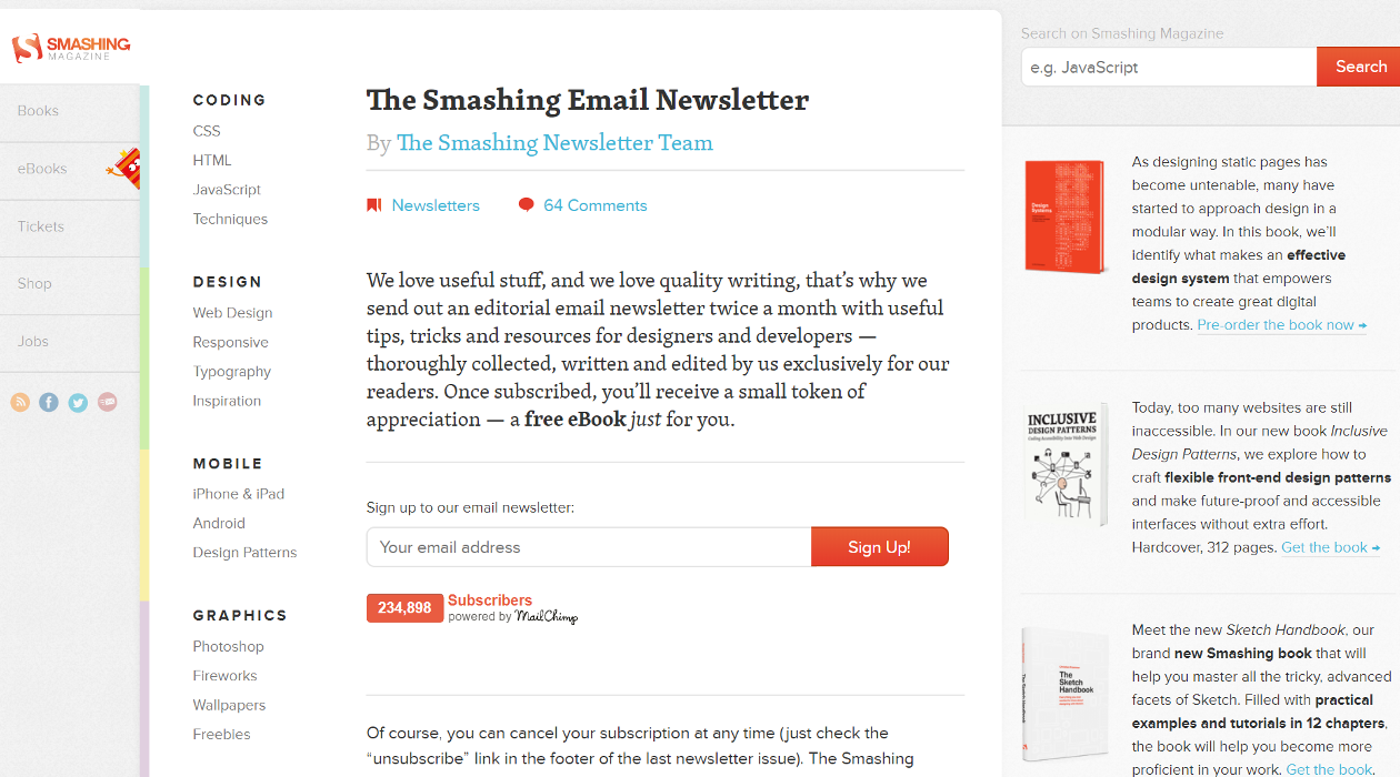 The Smashing Email Newsletter newsletter image
