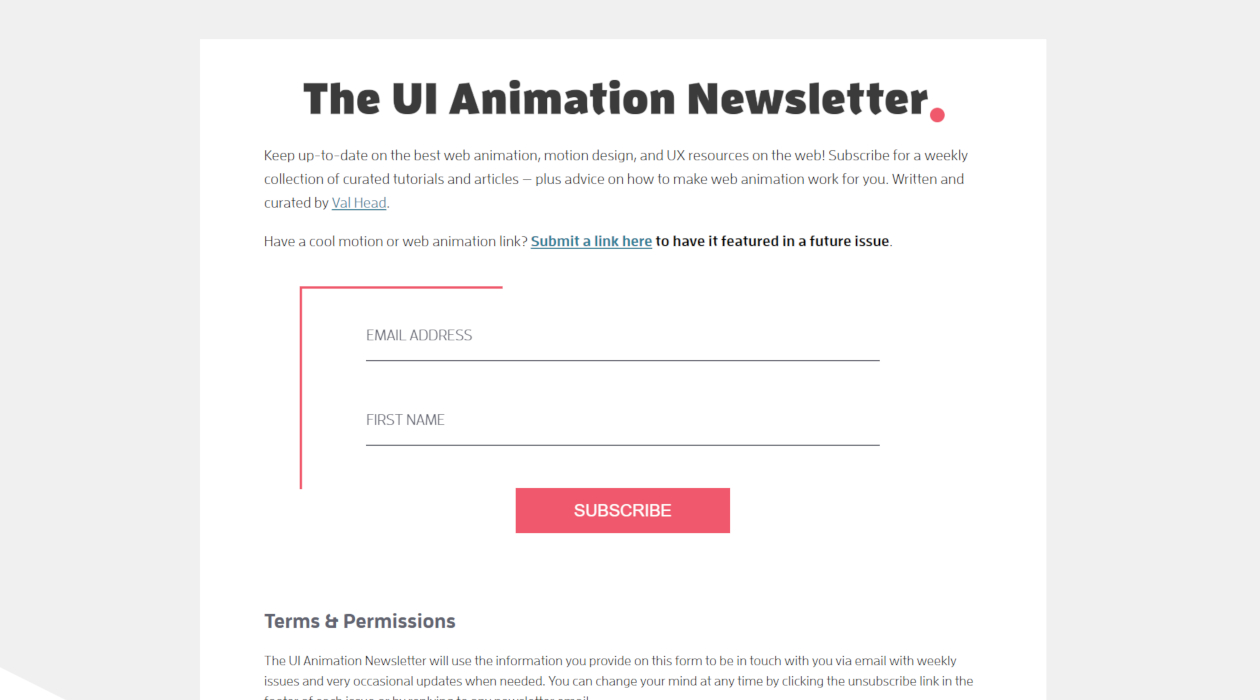 The UI Animation Newsletter newsletter image