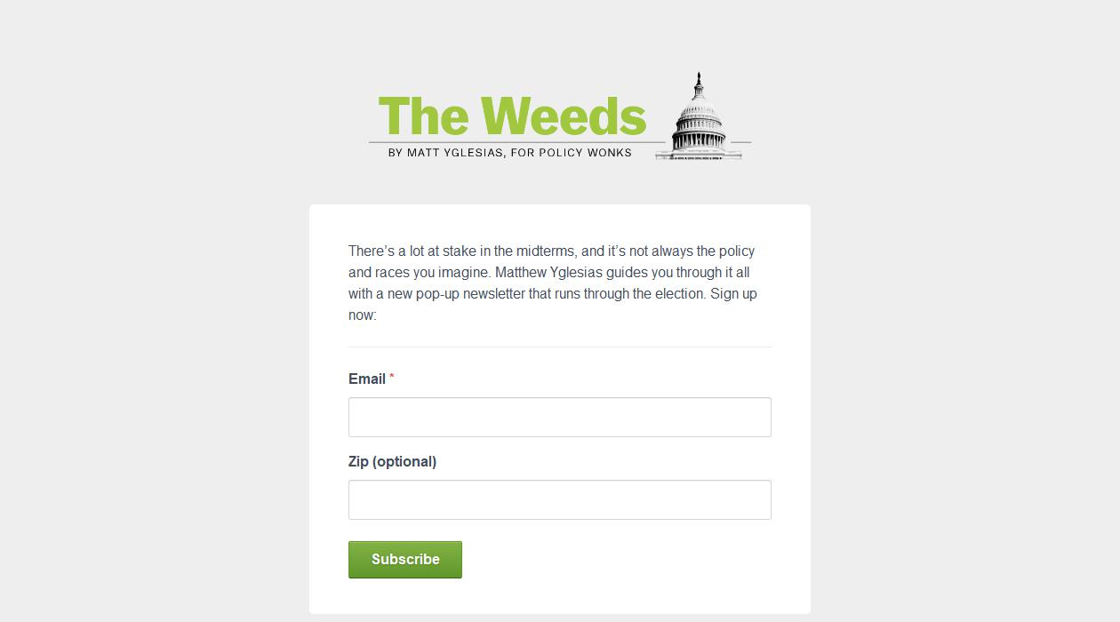 The Weeds newsletter image