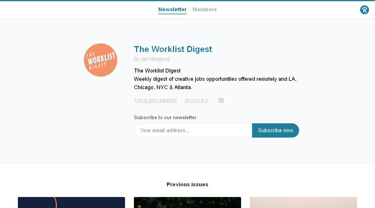 The Worklist Digest newsletter image