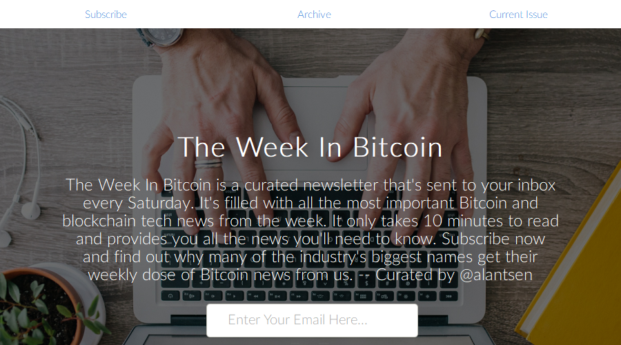 This Week In Bitcoin newsletter image