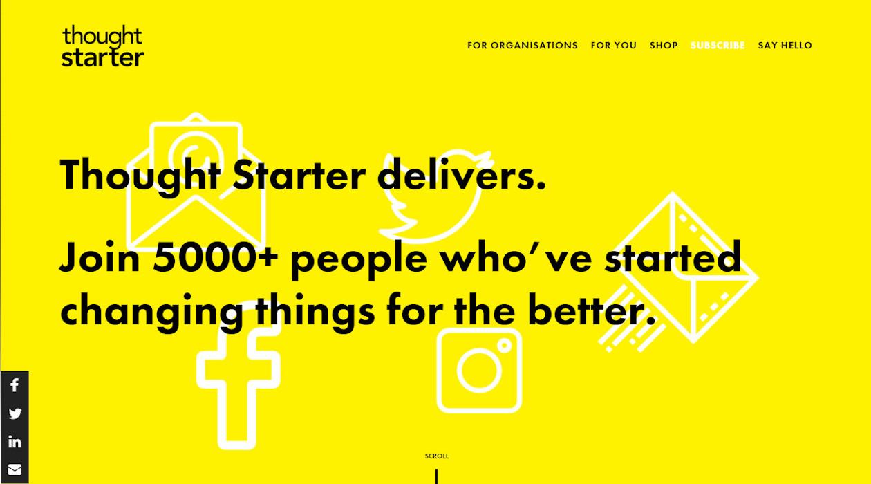 Thought Starter newsletter image