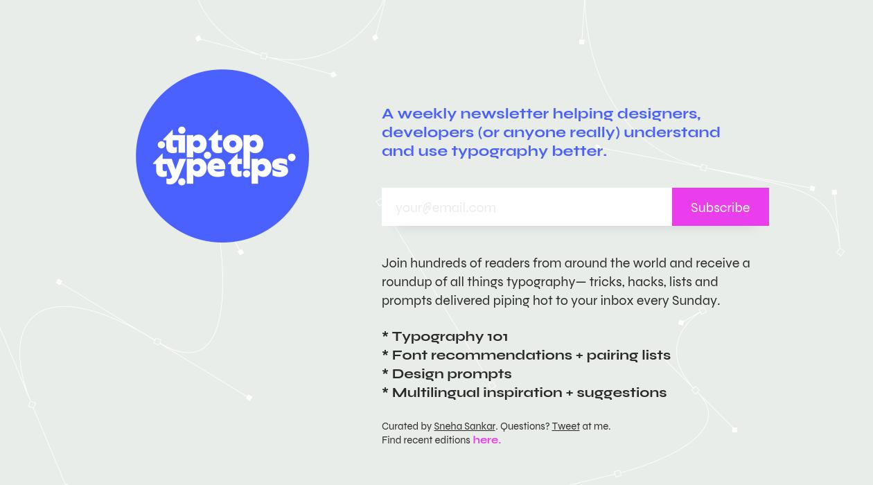 tip top type tips newsletter image