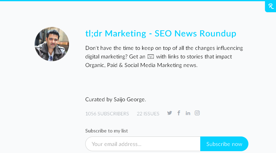 tl;dr Marketing newsletter image