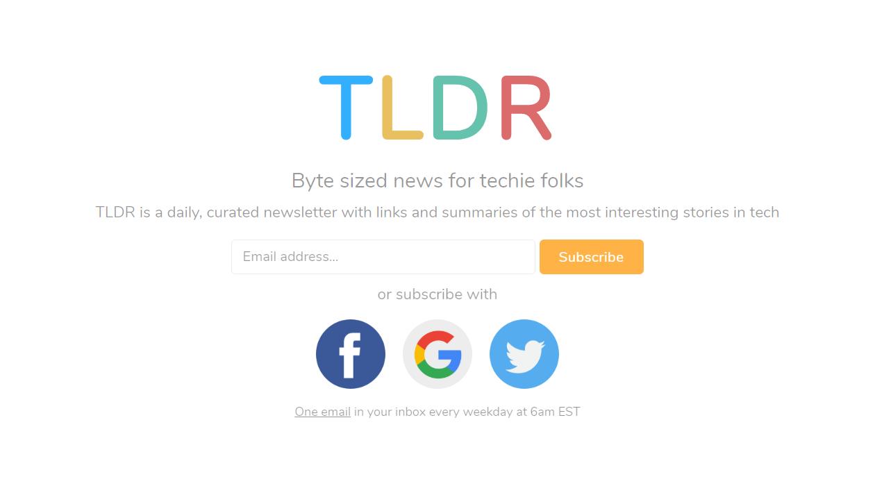 TLDR newsletter image
