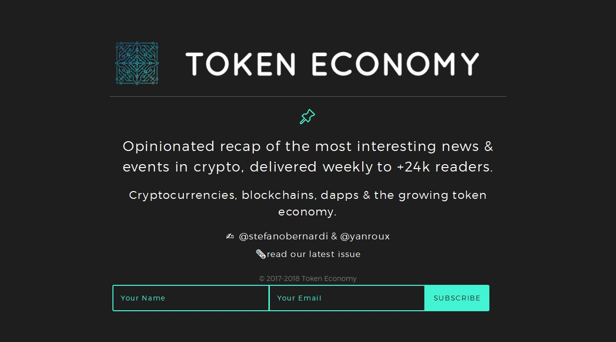 Token Economy newsletter image