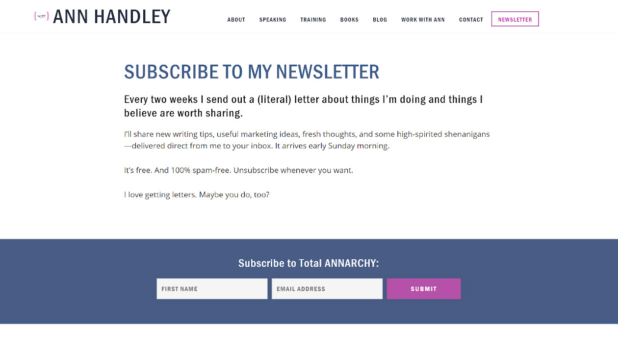Total Annarchy newsletter image