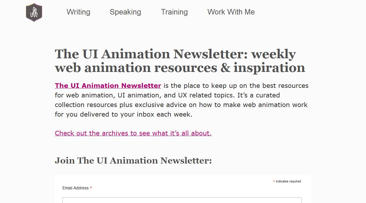 UI Animation Newsletter newsletter image