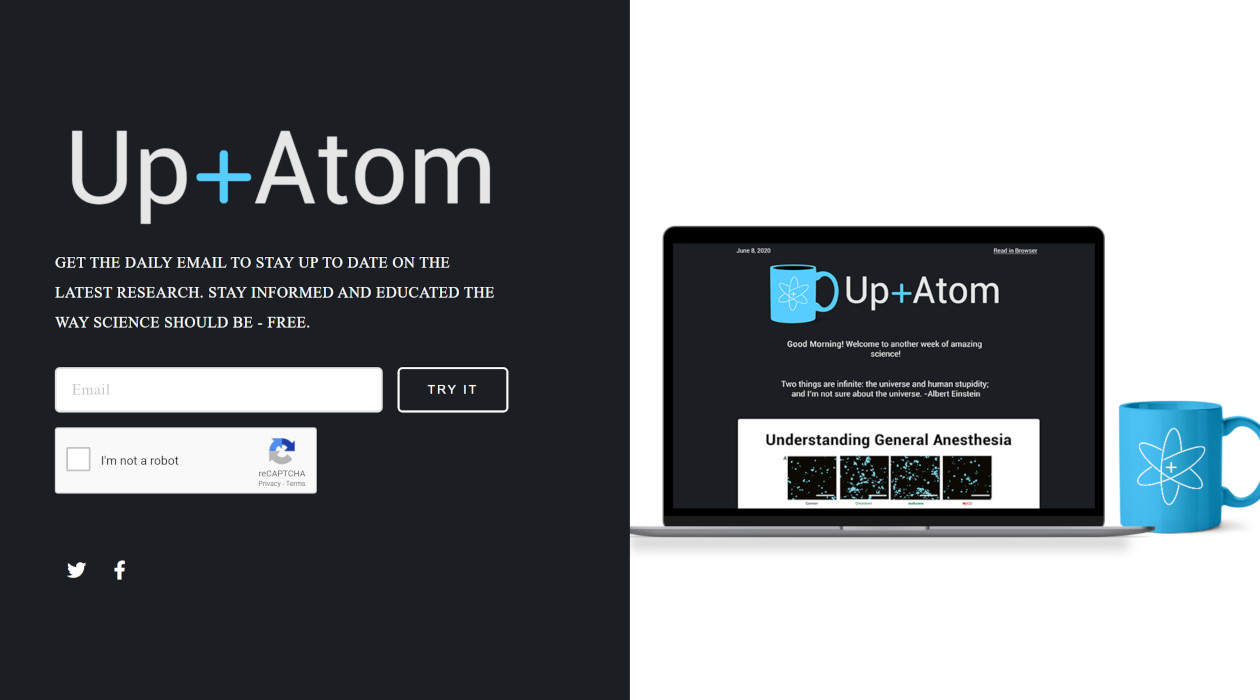 Up and Atom! newsletter image