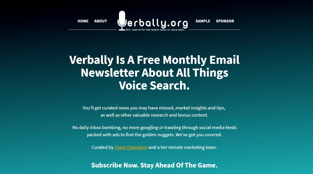Verbally.org newsletter image