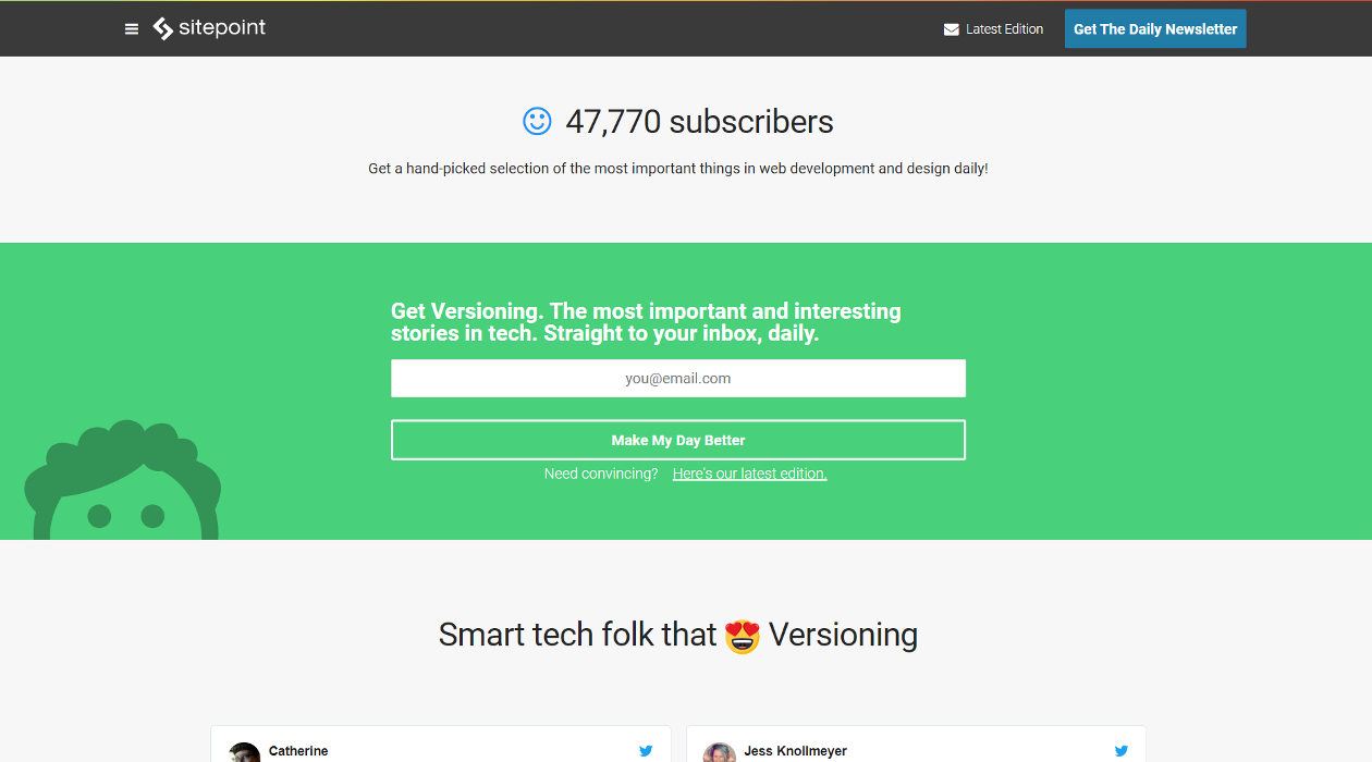 Versioning newsletter image