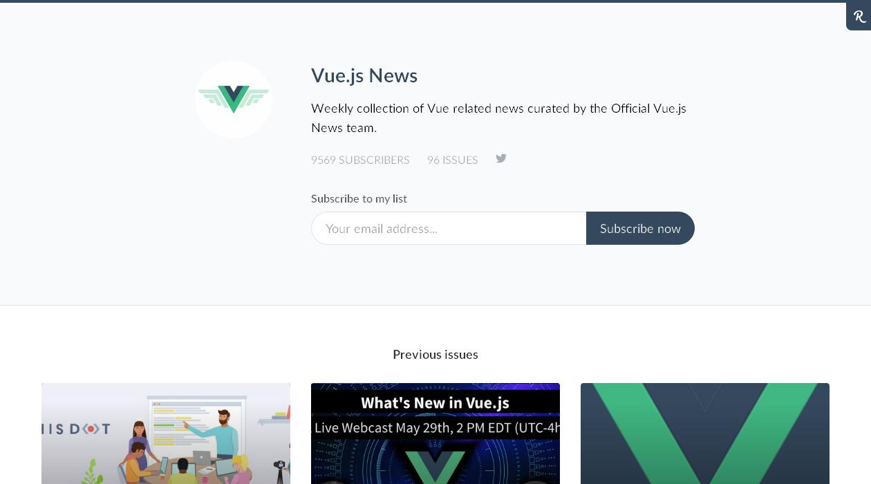 Vue.js News newsletter image