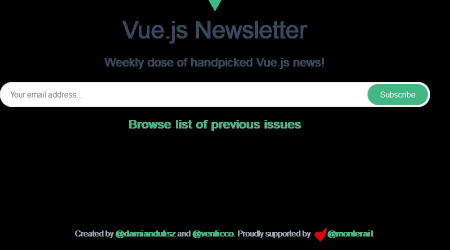 Vue.js Newsletter newsletter image