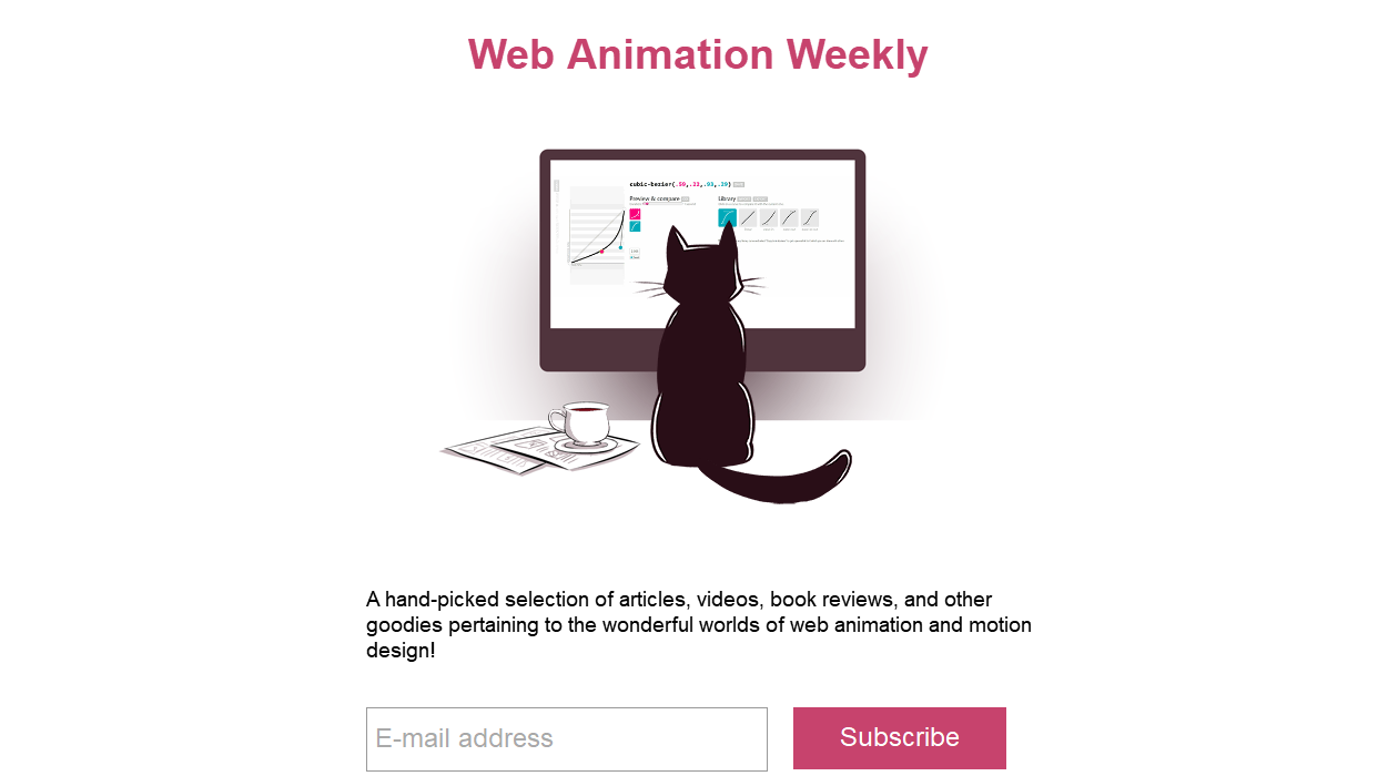Web Animation Weekly newsletter image