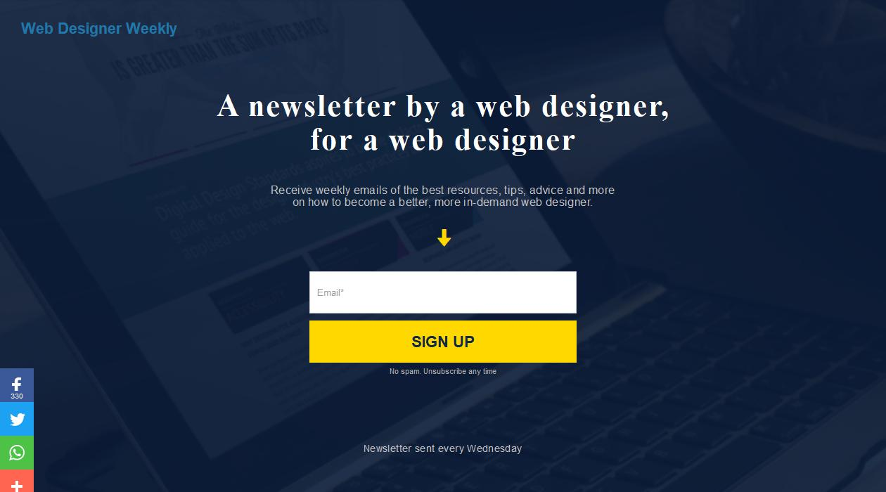 Web Designer Weekly newsletter image