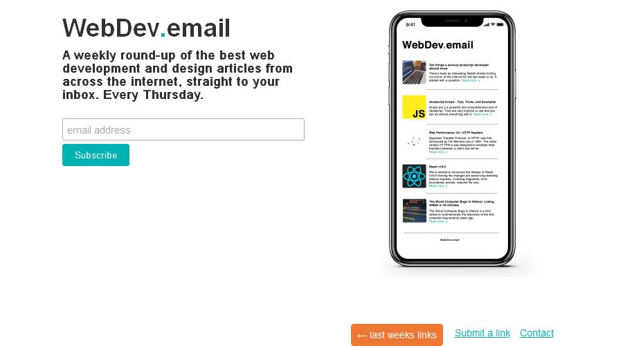 webdev.email newsletter image