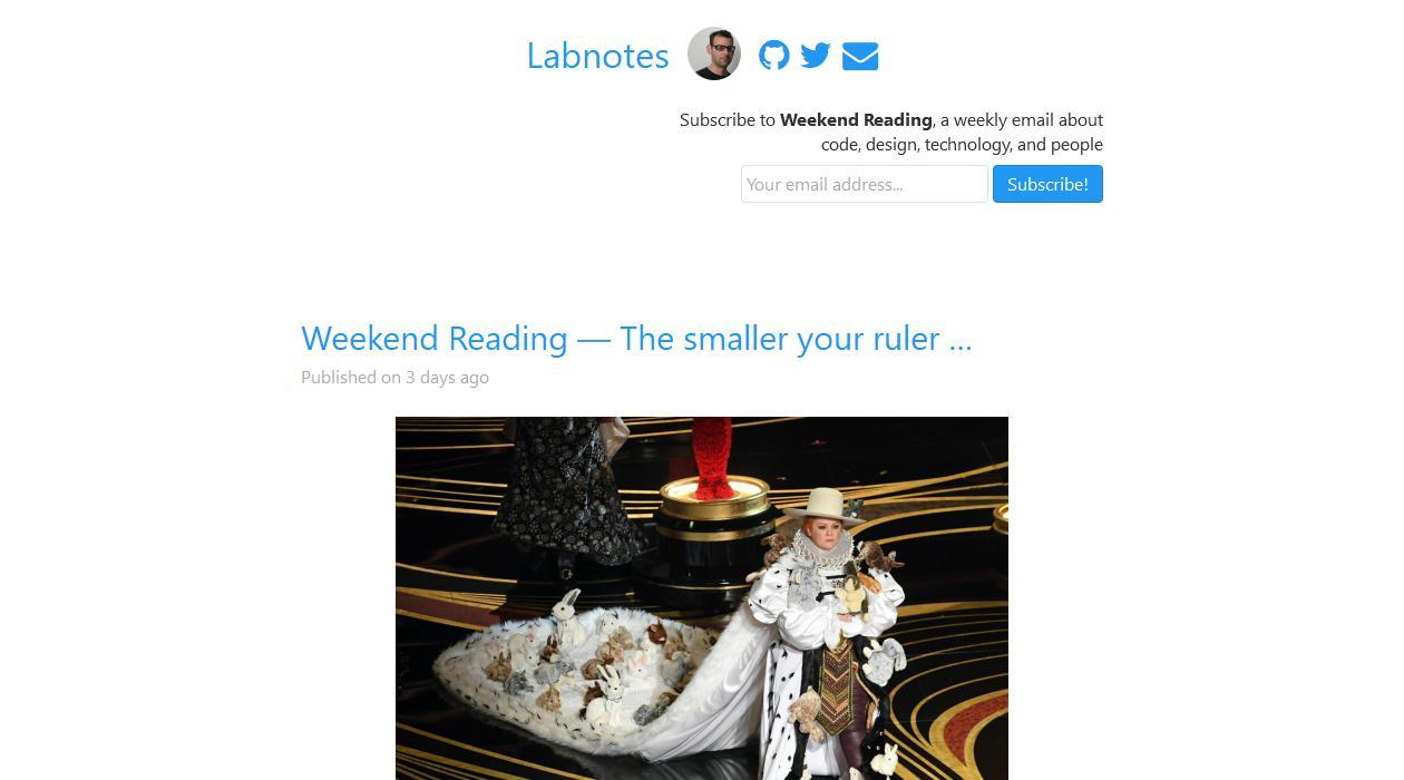 Weekend Reading newsletter image