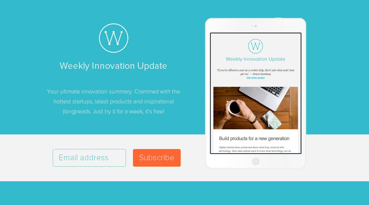 Weekly Innovation Update newsletter image