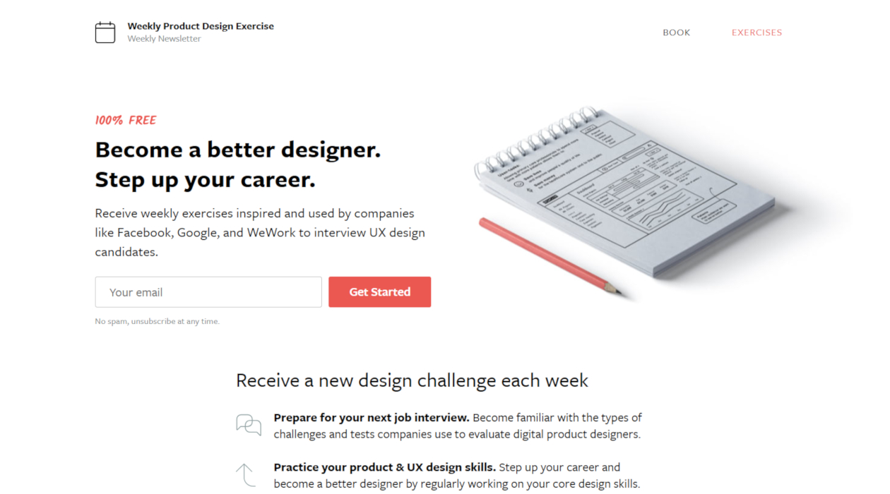 Weekly Product Design Exercise newsletter image