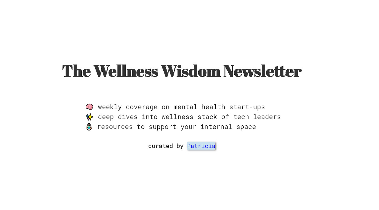 Wellness Wisdom Stack  newsletter image