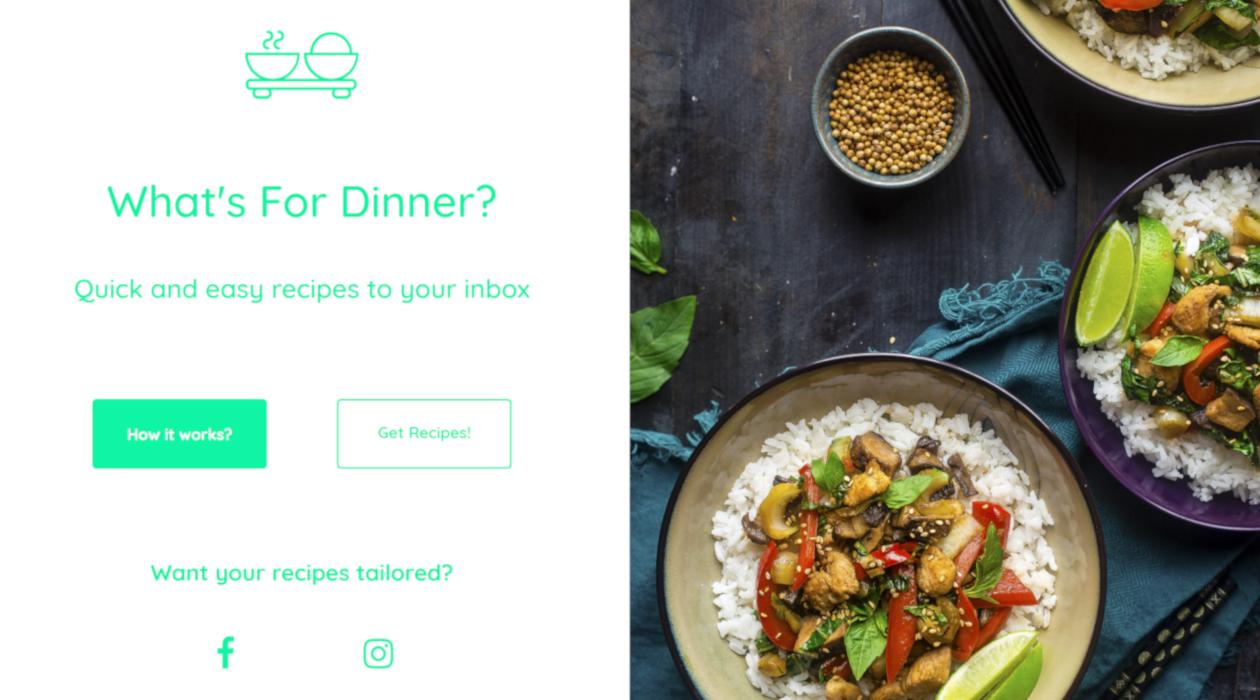 What's For Dinner? newsletter image