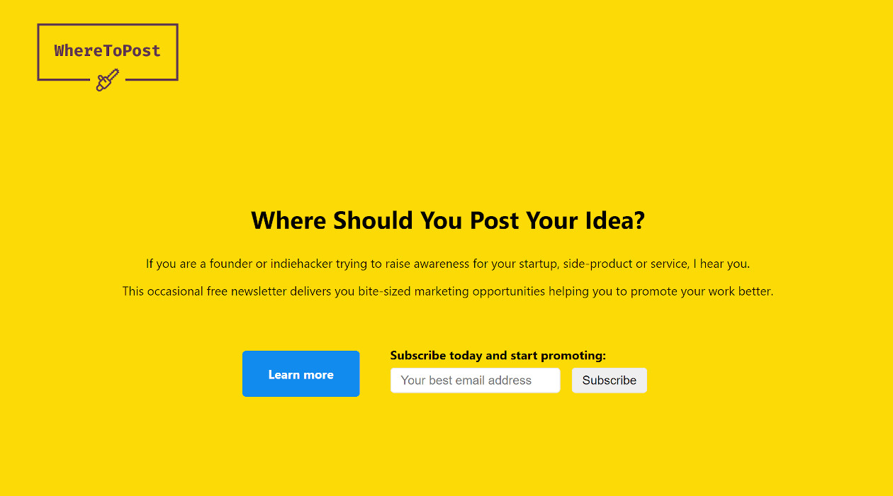 Where To Post newsletter image