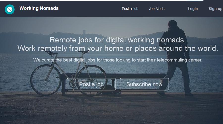 Working Nomads newsletter image