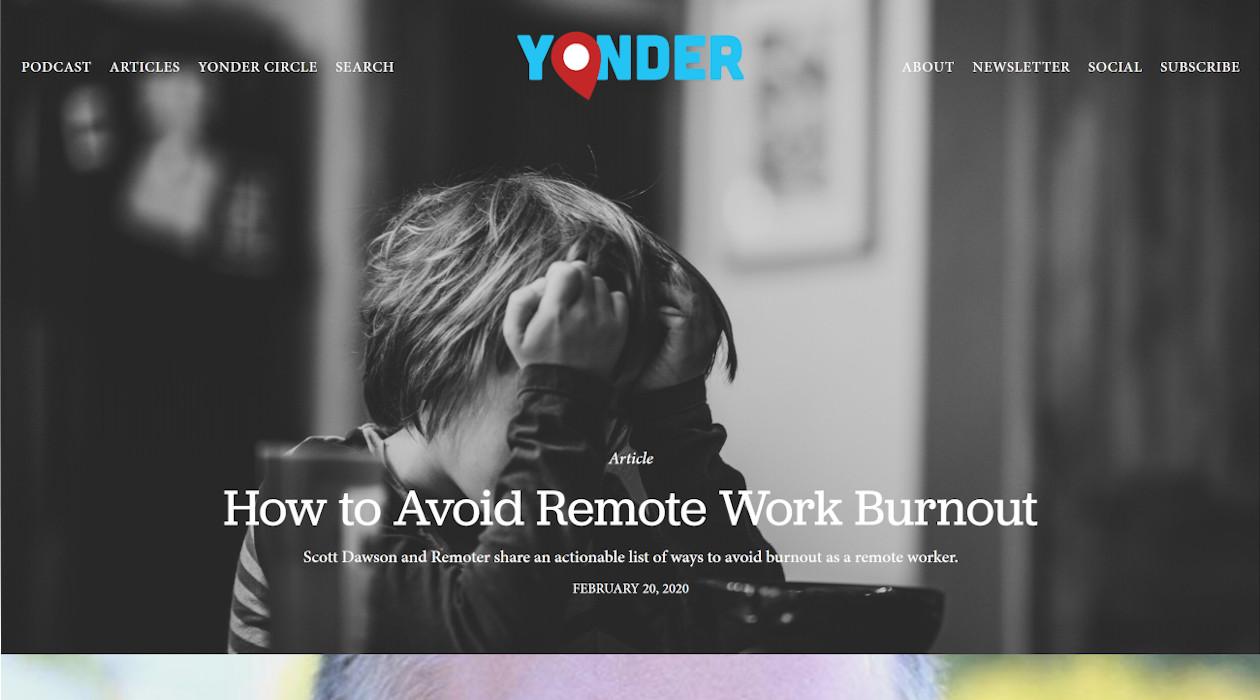 Yonder newsletter image