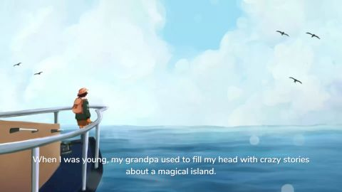 """""""When I was a young girl my grandpa took me on an island to see a yellow frog"""""""