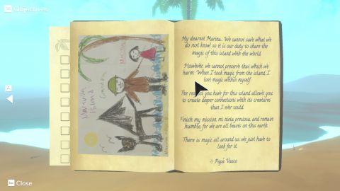 Deník, do kterého lepíte pořízené fotografie, je jednou z klíčových součástí hry. Škoda jen, že jeho součástí není i bestiář...