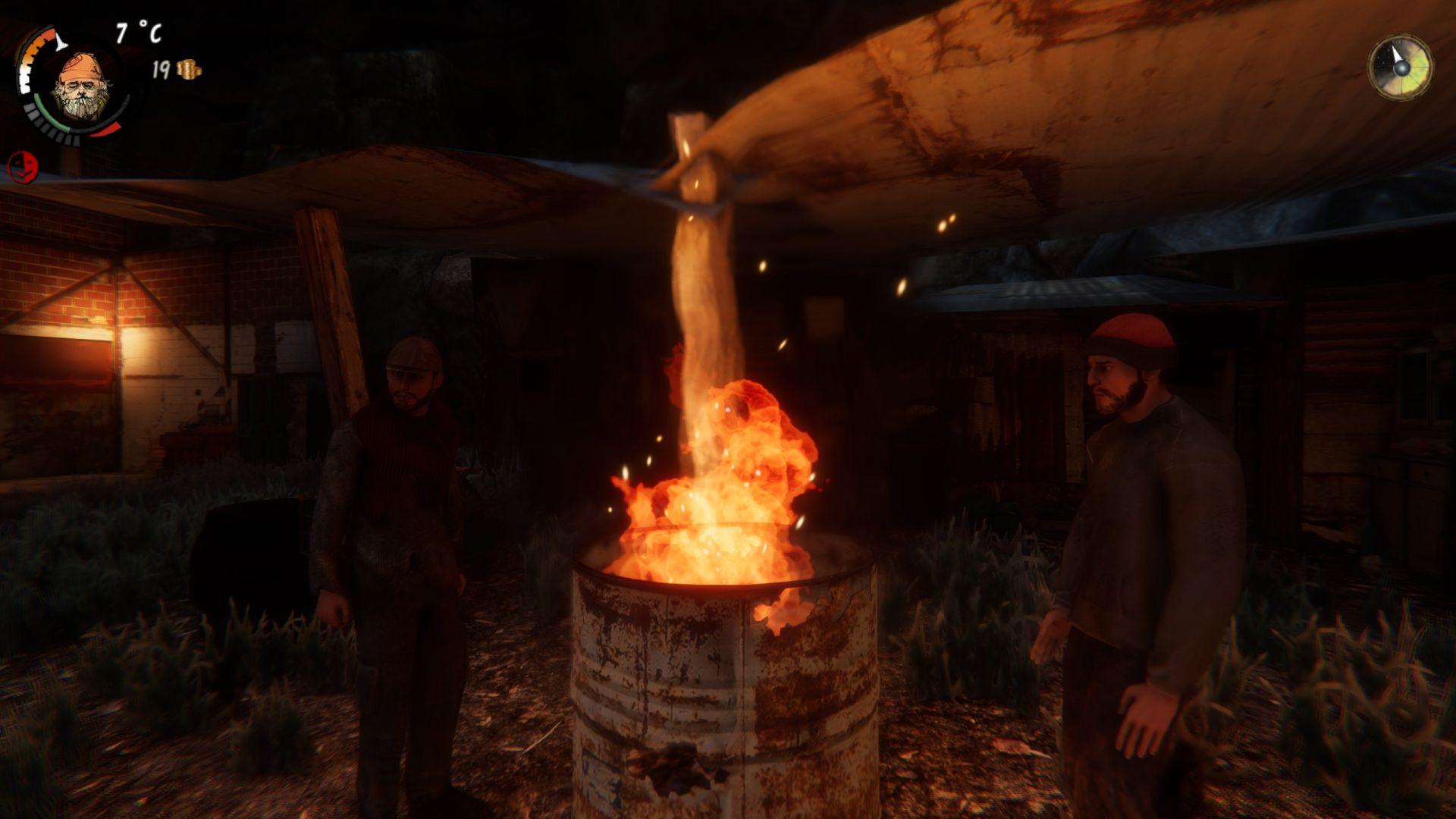 Hořící barel - nejlepší kámoš bezdomovce