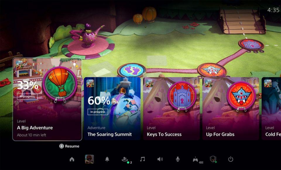 Sony představila dashboard PS5