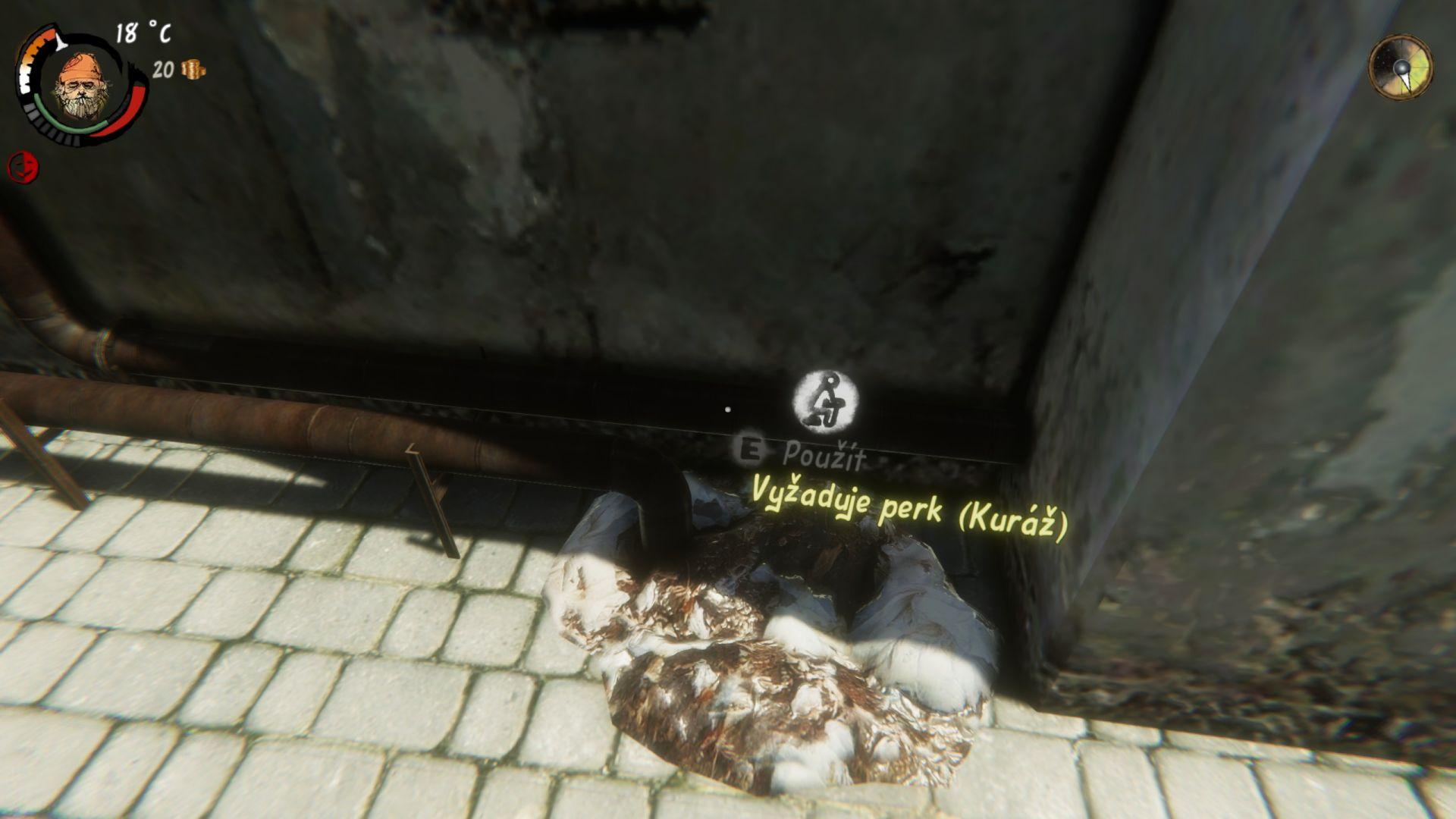 V reálném životě jsem už potkal pár bezdomovců, kteří měli perk Kuráž na maximálním levelu