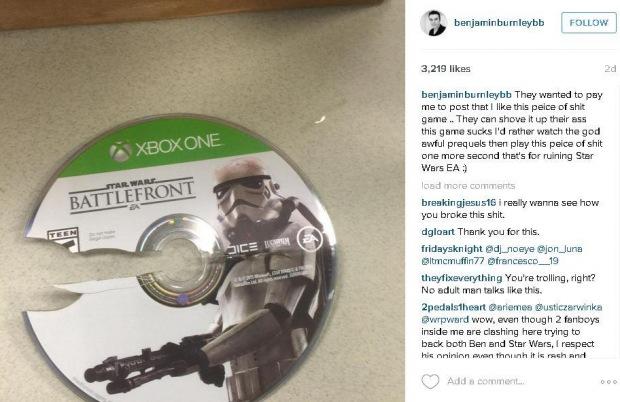 Rázný zpěvák odmítá propagovat Battlefront