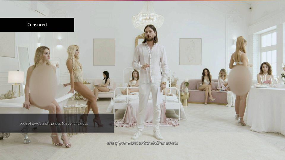 Volitelná cenzura vypadá velice zvláštně, paradoxně má díky ní člověk tak trochu pocit, že jsou modelky opravdu nahé