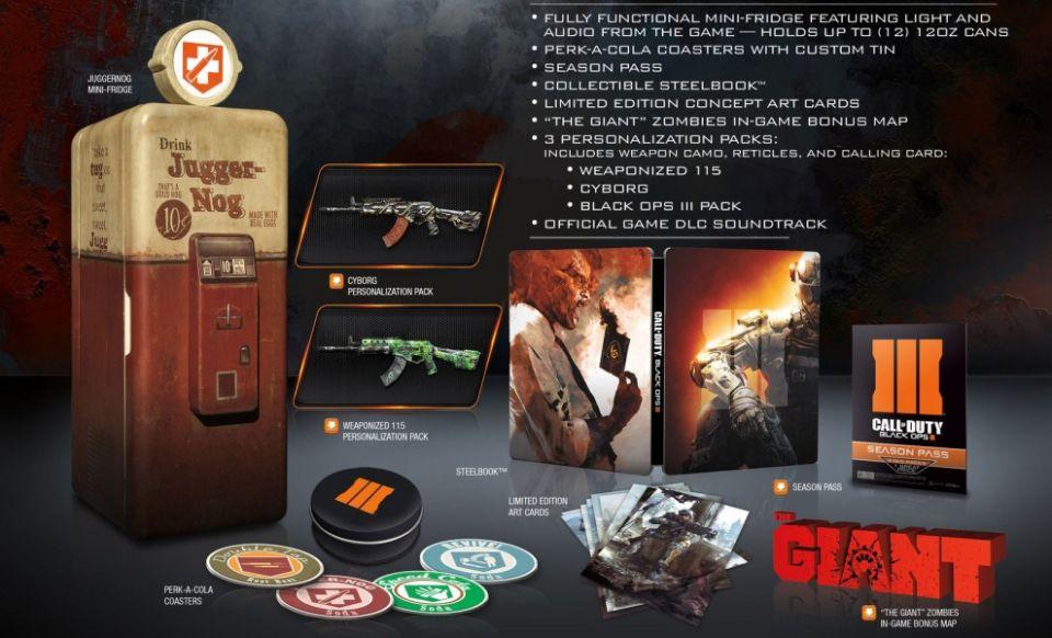 Limitovaná edice Black Ops 3 s ledničkou