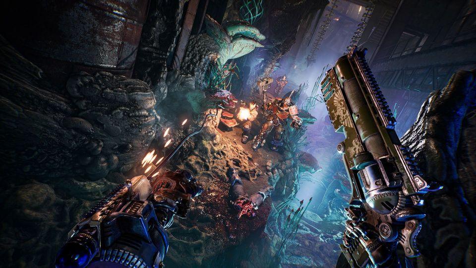 Launch trailer k Necromunda: Hired Gun slibuje šílenou jízdu světem Warhammer 40K