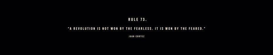 Jedno z mnoha pravidel Juana Corteze