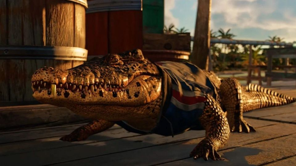 Ukázka z Far Cry 6 předvádí zvířecí společníky, nechybí ani krokodýl Guapo