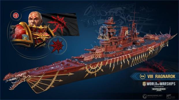 World of Warships dostane skiny z W40K