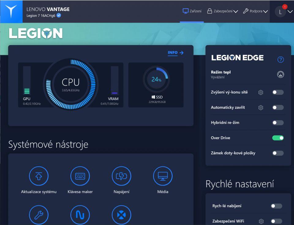 Recenze Lenovo Legion 7, nekompromisního monstra s RTX 3080 za 60 tisíc korun