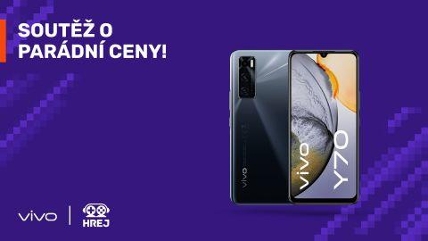 Soutěžte s novým Hrej o smartphone VIVO Y70!