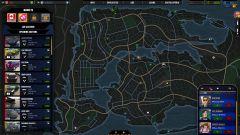 Takhle vypadá kompletní mapa herního města. Aukce na Hyundai Sonata začne za 20 vteřin, řidič právě nakládá jeden z mých posledních nákupů a na svou vysněnou káru mi volají hned čtyři lidé. Nechť se prachy točí!
