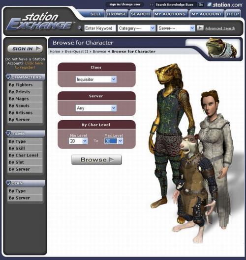 EverQuest II Station Exchange - rok první