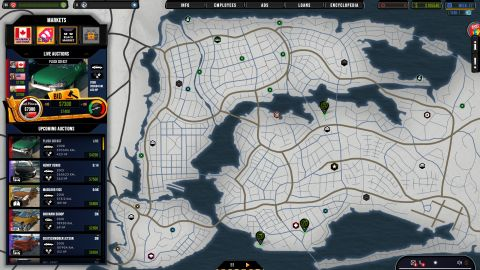 Na zimu se mapa převleče do bílé barvy. V mém případě také došlo ke zpomalení byznysu, všichni mí řidiči vyspávají...