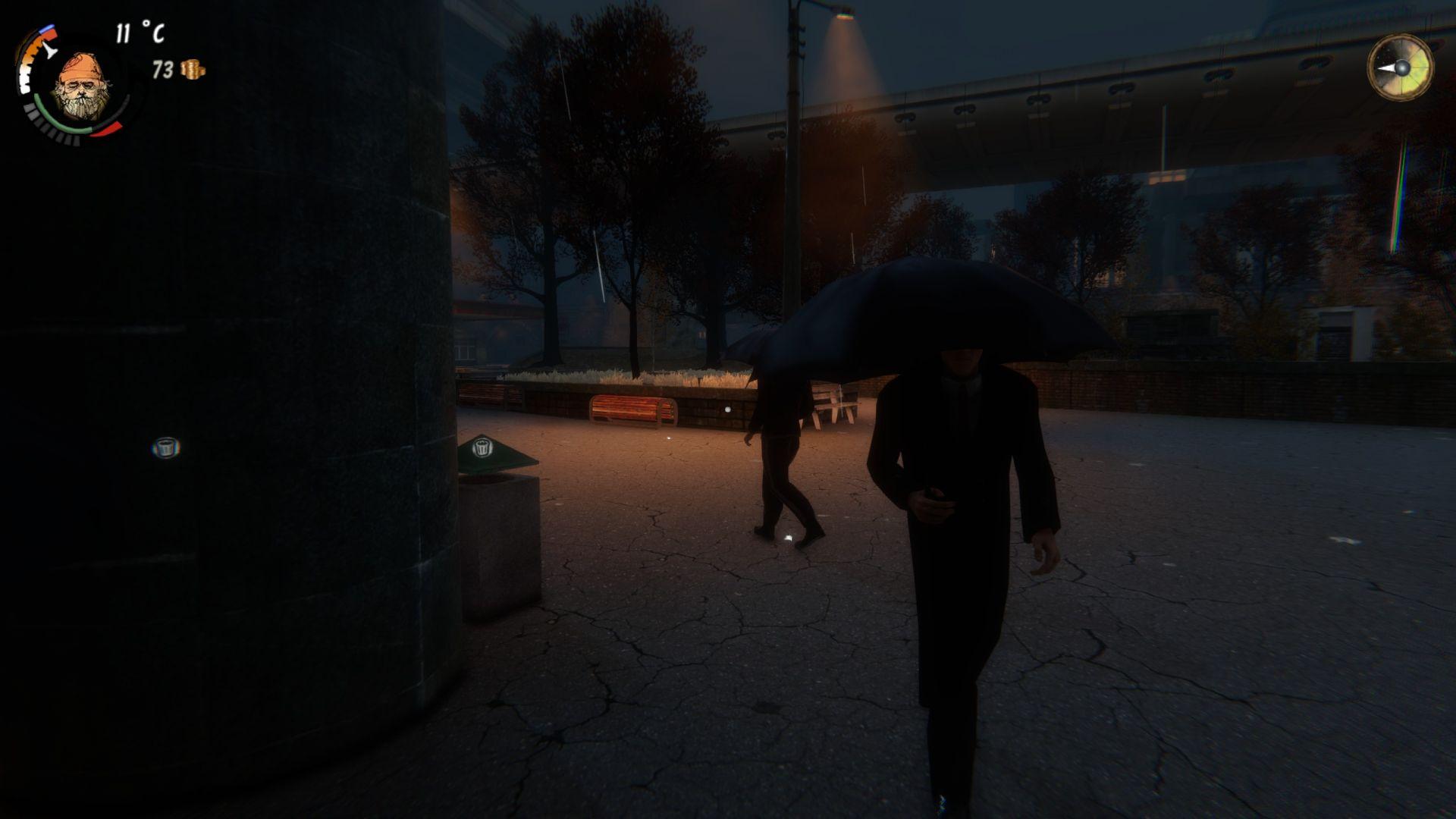 Deštivý večer, aneb bezdomovcova noční můra...