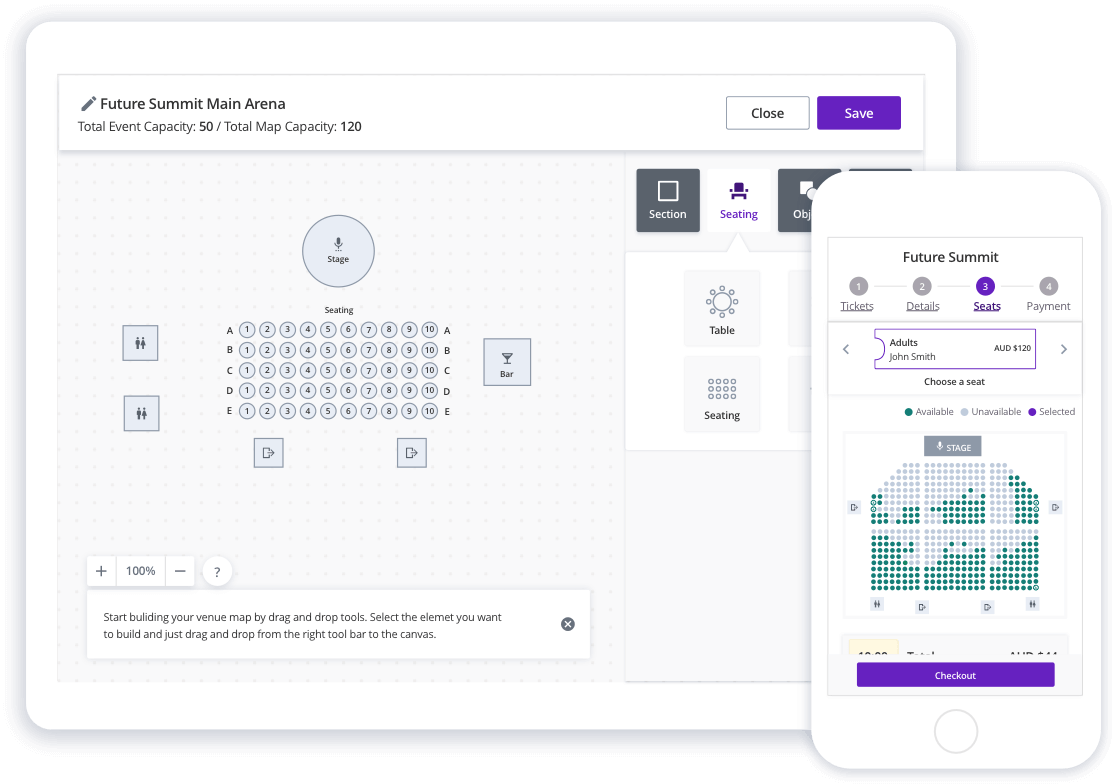 Seating map builder