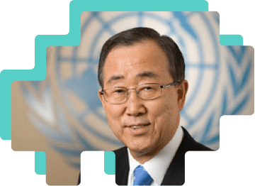 Picture of south Korean statesman and secretary-general of the United Nations, Ban Ki-Moon.
