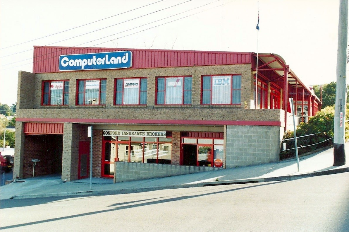 The Gosford ComputerLand building in 1992
