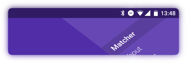 Showcases a purple theme color on a fullscreen website